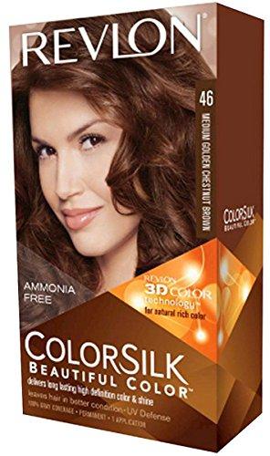 Revlon Colorsilk Beautiful Color, Medium Golden Chestnut Brown [46] 1 ea