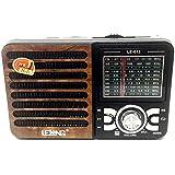 RADIO RETRO AM FM COM USB SD 9 BANDAS CAIXA DE SOM ESTILO ANTIGO RECARREGAVEL
