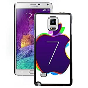 NEW DIY Unique Designed Samsung Galaxy Note 4 Phone Case For Colored iOS 7 Apple Logo Phone Case Cover