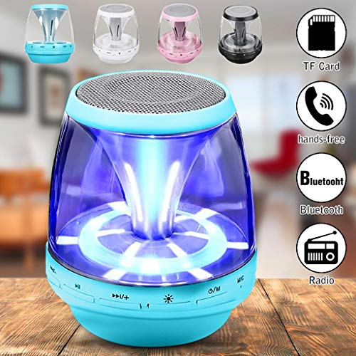 XINLIFAN Bluetooth Speaker Wireless Rechargeable Mini Portable LED for Smartphone Tablet Very Good (Color : Pink)