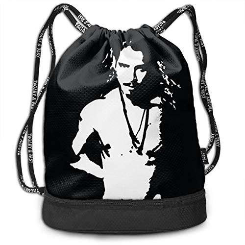 Drawstring Bag Travel Gym Sports Rucksack Portable Sackpack, Chris Cornell Topless -