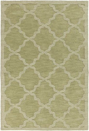 Artistic Weavers Solid/Striped Rectangle Area Rug 8'x10' Sage Central Park Abbey Collection