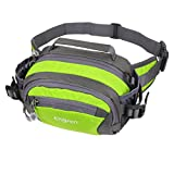 ENGYEN Waist Bag,Fanny Pack,Waist Pack,Adjustable Strap,with Adjustable Water Bottle Holder,Outdoor,Sports,Jogging,Walking,Hiking,Cycling,Carrying iPhone 7 8 Plus X Samsung for Men/Women