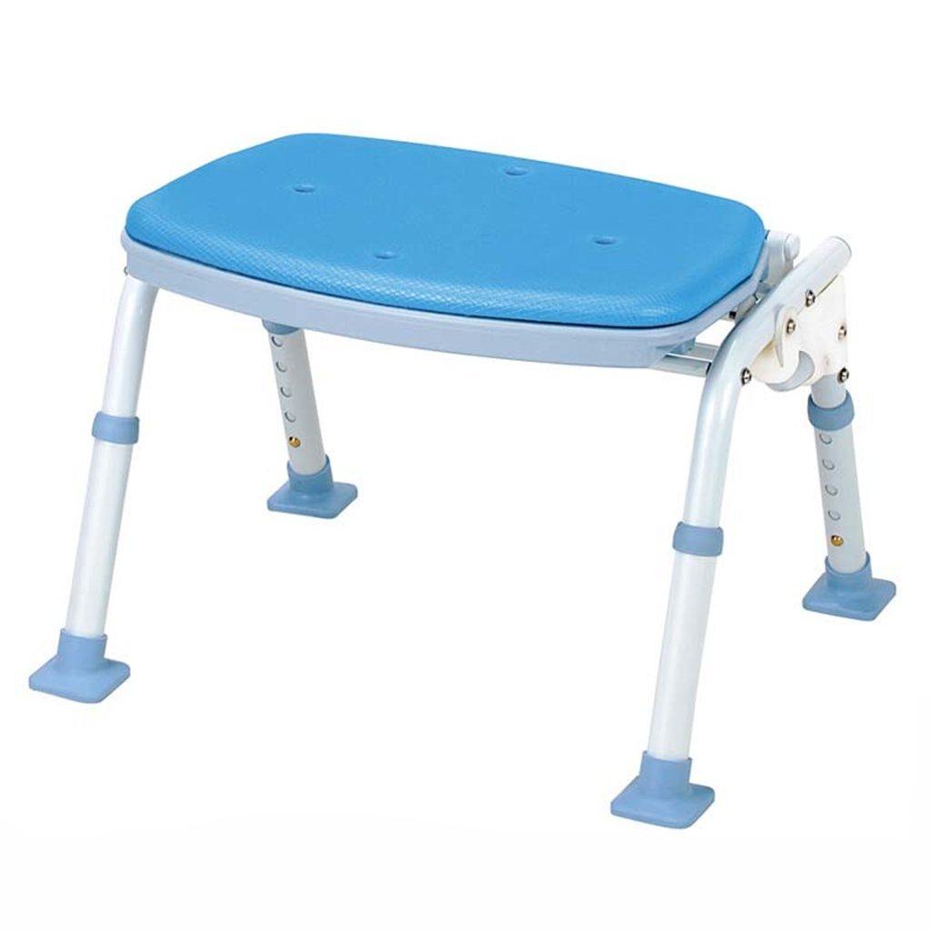 WSSF- シャワーチェア ポータブル折りたたみ可能な軽量で強力な水着のスツールヘルスケア高齢者の妊婦のバスルームアンチスリップシャワーチェア、43.5 * 30.5 * 35-45cm B07BFZ4HRN