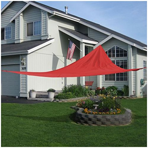 18' x18'x18' Triangle Sun Shade Sail UV Top Outdoor Canopy Patio Lawn Red (Sun Shades Box compare prices)