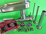 Smokehouse Chef Exclusize Size #12 Stainless Steel Meat Grinder Attachment PLUS Sausage Stuffing Kit. Fits Hobart, Univex mixers