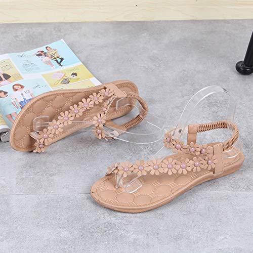 Piani Signore Modo Boemia Formulaone di Morbidi di Stile delle Sandali Casuali Scarpe della Spiaggia Donne comodit Estate di Sandali Piani delle Sandali da Femminili di AO1nA