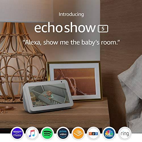 Echo Show 5 (1st Gen, 2019 release) -- Smart display with Alexa – stay connected with video calling - Sandstone