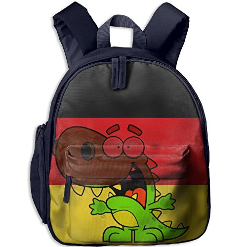 Quen Dull German Dinosaurs Cool Rucksack Backpack A Children's School Bag
