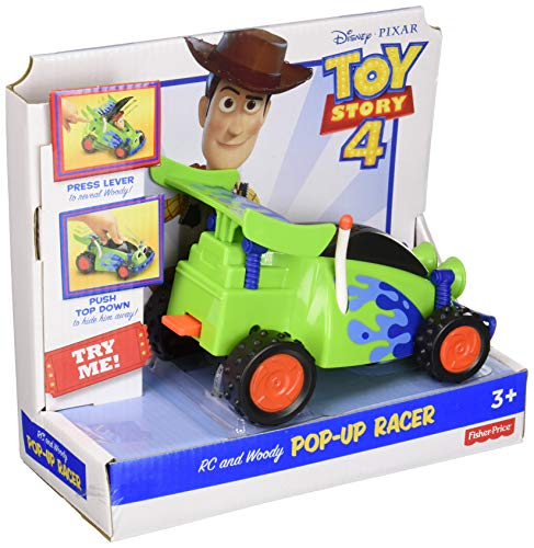 Fisher-Price Disney Pixar Toy Story 4 R/C And Woody Pop-up Racer