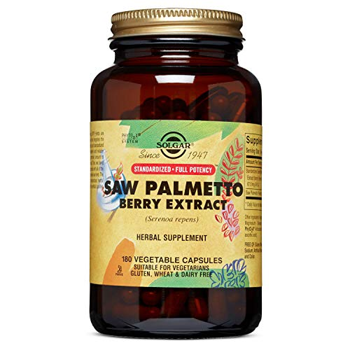 Solgar - Standardized Full Potency Saw Palmetto Berry Extract, 180 Vegetable Capsules