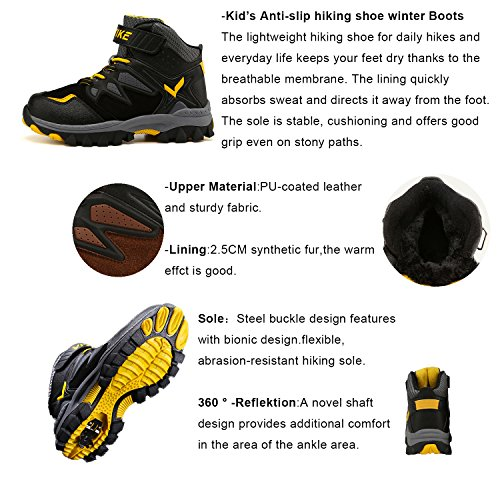 Platform Shoes Elaphurus orange Flat Boot 2 Walking Boots Anti Waterproof Climbing Slip Hiking Kids rIqYwgBqa