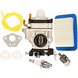 HIFROM Carburetor with Fuel Line Repower Tune-up kit Air Filter for Echo PB651H PB651T PB-755 PB-755H PB-755T PB-755SH PB-755ST PB-751 PB-751H Replace Walbro WYK-192 WYK192
