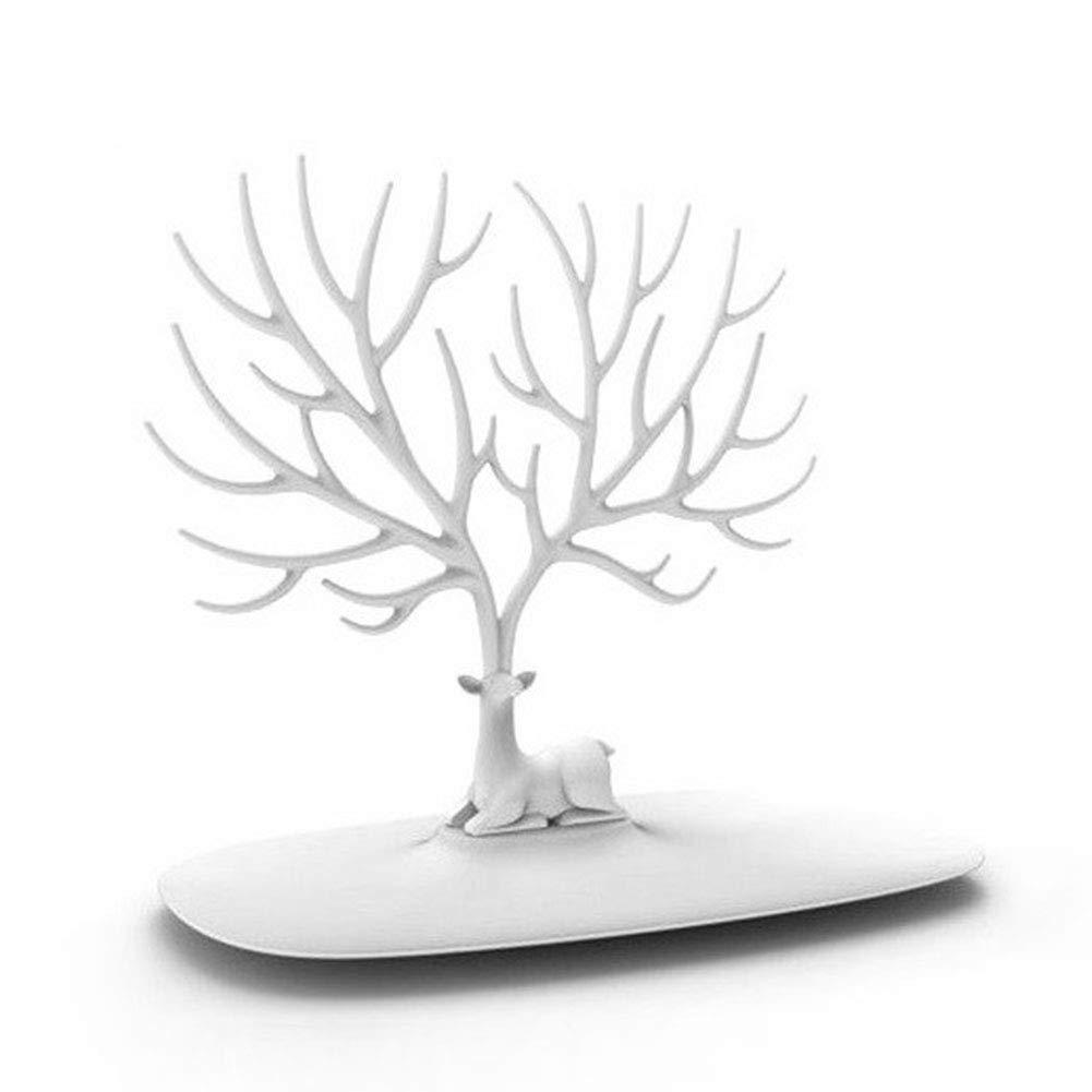 CDKJ Creativo Ciervos /árbol de exhibici/ón de la joyer/ía Pendiente del Collar de pl/ástico sostenedor del Organizador de joyer/ía de Bastidor Torre Menaje
