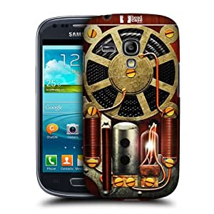 Head Case Designs Radio Steampunk Protective Snap-on Hard Back Case Cover for Samsung Galaxy S3 III mini I8190 by supermalls