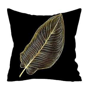zarupeng✦‿✦ Planta de Oro Impreso Funda de Almohada ...