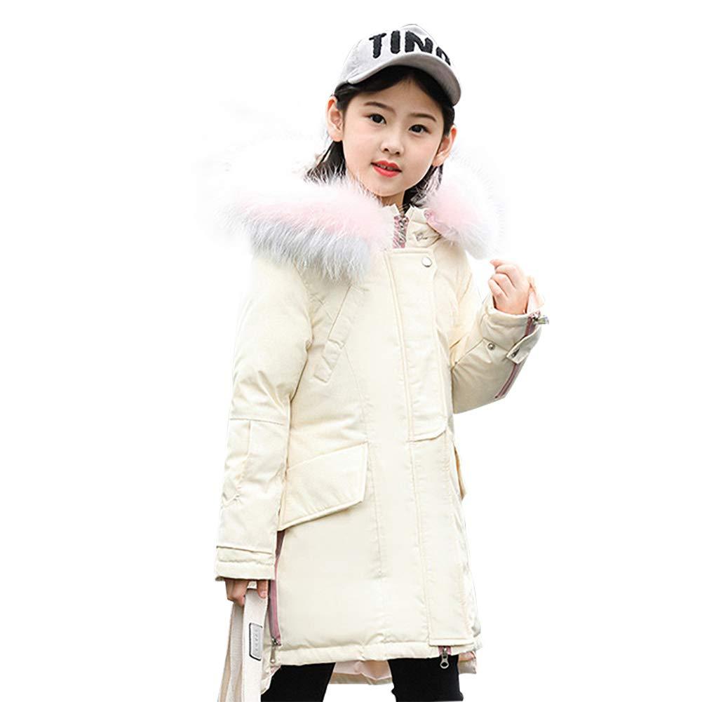 SITENG Girls Kids Winter Down Coat Puffer Jacket Parka 9 10 11 12 Years Overcoat Fur Hood for Big Girls