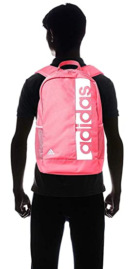 Amazon.com | adidas Linear Performance Backpack (One Size, Real Pink/White) | Backpacks