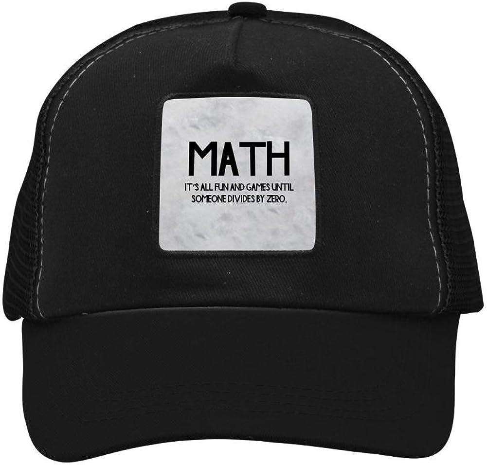 Nichildshoes hat Mesh Caps Hats for Men Women Unisex,Print Math