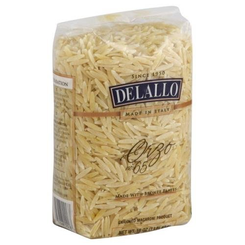 Delallo, Pasta Bag Orzo, 16 OZ (Pack of 16)