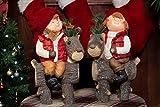 Cheap Alpine Corporation DXX185AHH Kids on Deer Statue Assorted 2 Models