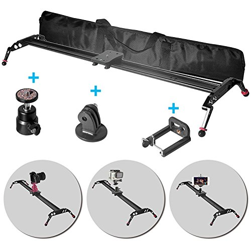 "Fomito 47"" Camera Slider Dolly Track Glider System Stabilize"