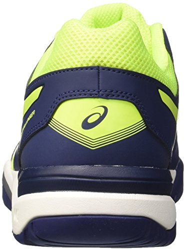 Asics Gel-Challenger 11, Zapatillas de Gimnasia para Hombre Azul (Indigo Blue/safety Yellow/silver)
