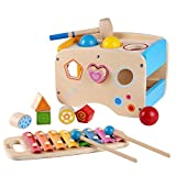 Rolimate Wooden Learning Hammering & Pounding Toys + 8...