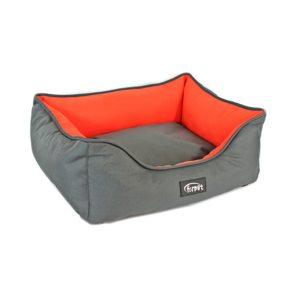 504018cm WFH Pet Bed, Puppy Kitten Washable Pet Comfortable Self Warming Nest Cat Pad Waterloo Rectangle Pet Bed Cushion,504018Cm