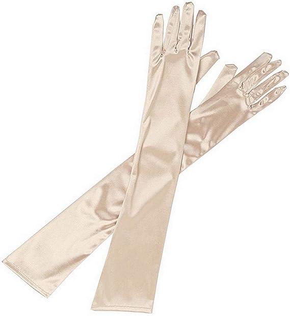 Ladies Long Satin Gloves Opera Party Costume Wedding Bridal Prom Womens Fancy
