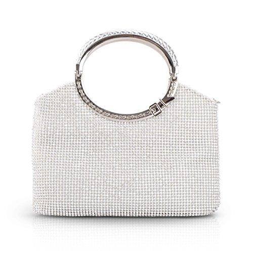 Women Rhinestone Clutches Purses Crystal Party Evening Bags Bride Wedding Party Handbags