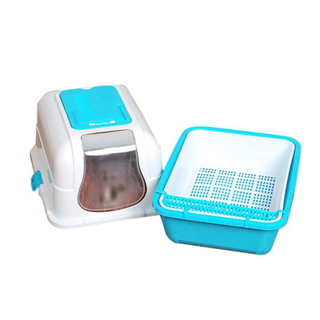 bluee IRVING Indoor Dog Potty, No Torn Potty Pads  Keep Paws Dry  Predect Floors  Easy Cleanup On Pads  for Puppies, Small Dogs & Cats (color   bluee)