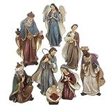 Image of Kurt Adler Resin Nativity Figurine Set, 6.25-Inch, Set of 8
