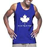 I'm On The Eh Team - Canadian Canada Men's Tank Top (Royal, Small)
