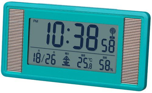 Smartek ( Sumatekku ) solar radio alarm clock digital display large screen display mat Green ML-476-YGR by SMARTEK ( Sumatekku )