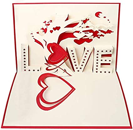 3D Greeting Card Pop Up Paper Cut Happy Birthday Wedding Valentine/'s Day Card