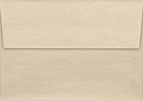 A1 Invitation Envelopes w/Peel & Press (3 5/8 x 5 1/8) - Taupe Metallic (50 Qty) | Perfect for RSVP Cards, Invitations, Announcements and Notes | 5365-M09-50