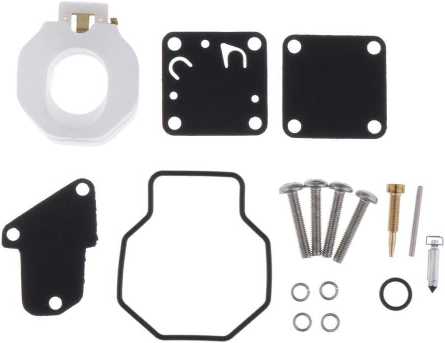 Shiwaki Kit di Riparazione del Carburatore Set di Guarnizioni per Lo Strumento di Ricostruzione del Carburatore per Motore Fuoribordo Yamaha 4HP 5HP Lunga Du
