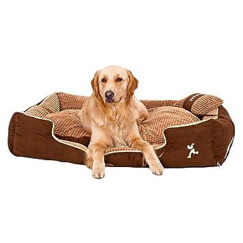 TFENG Cama del Perro, Amortiguador de Perro Doble del Perro del sofá del Perro, Estera del Perro Suave Lavable con la Cubierta desprendible (Size M): ...
