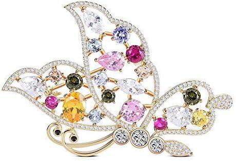 S-TING ブローチ 高級感 レディークリエイティブ動物蝶、色のダイヤモンドハイグレードブローチアクセサリー レディース