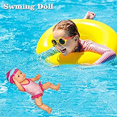 Lijuan Qin Baby Swim Doll Electric I Can Swiming Doll for Baby Waterproof Toy Cute Dolls Inedible Mini Decorations Home Holiday Birthday Gifts: Home & Kitchen