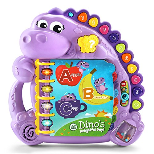 LeapFrog Dinos Delightful Day Alphabet Book, Purple (Amazon Exclusive)