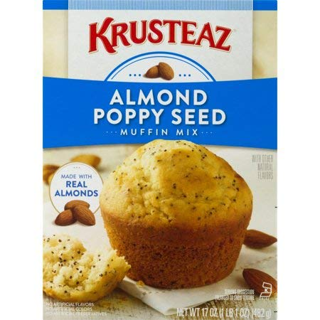 - Krusteaz, Almond Poppyseed Supreme Muffin Mix, 17oz Box (Pack of 6)