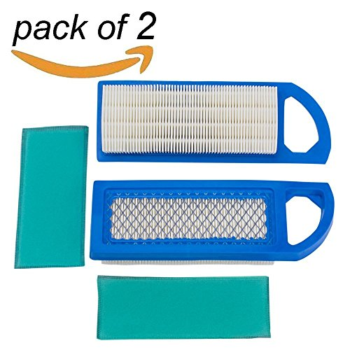 M 2Pack 698083 697153 Air & Foam Pre Filter Cartridge, for Briggs & Stratton Engine Lawn Mower, for John Deere GY20573 Craftsman Air Cleaner and More