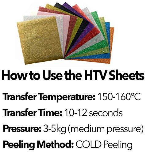 ... hojas de transferencia de calor de vinilo (HTV) para camisetas y otros tejidos - Prensa de vinilo para Silhouette Cameo, HTV Cricut, Craft moldes ...