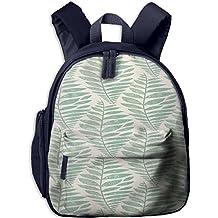 Watercolor Leaves Durable Kid' Bag For Teens School Backpacks