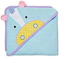 Skip Hop Baby Hooded Towel, 100% Cotton French Terry, Unicorn