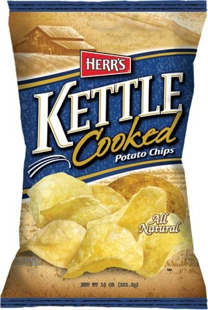 Herrs Kettle Cooked - Herr's Kettle Cooked Potato Chips 1.875 Oz (Pack of 24)