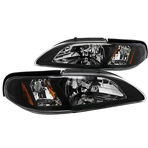 Spec-D Tuning 2LCLH-MST94JM-TM Ford Mustang Gt/ Cobra Svt 1-piece Style Headlights Black (Ford Mustang Gt Mustang)