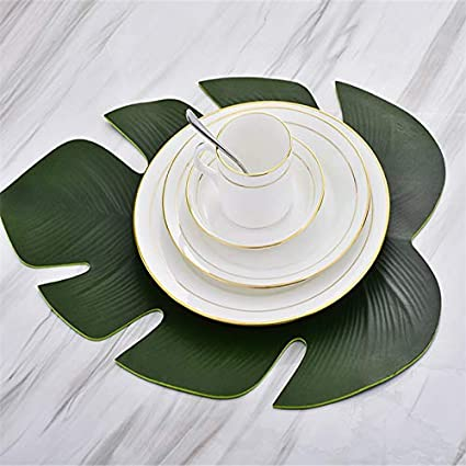 Amazon.com: jimmy liam Mats & Pads - Kitchen Placemat Leaves PVC Dining Table Mat Disc Pads Bowl Pad Coasters Waterproof Table Decor Cloth Pad ...